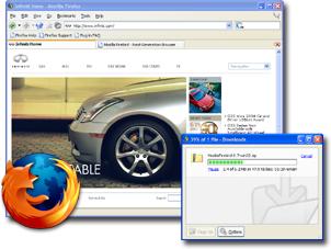 ネットサーフィン中の Firefox スクリーンショット